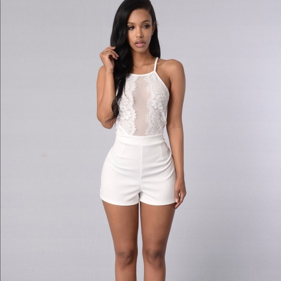 4f444b44d4d Fashion Nova Other - White lace fashion nova romper